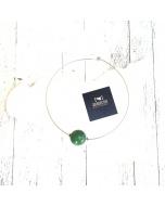 Collana girocollo sfera #verdepistacchio