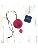 Ciondolo merletti di Sicilia e sfera #rossoarancia