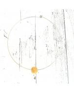 Collarino con Ciondolo in Ceramica 'vaccaredda' giallo