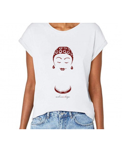 """T-shirt donna, """"Nuotatrice"""", manica spalla larga con risvoltino"""