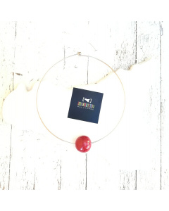 Collana girocollo sfera #rossoarancia