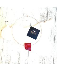 Collarino con ciondolo in Ceramica a Portafoglio #rossoarancia