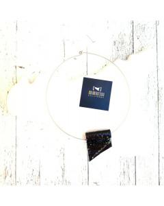 Collarino con ciondolo in Ceramica a Portafoglio #nerolavadelletna